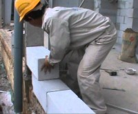 Dụng cụ để xây gạch nhẹ AAC
